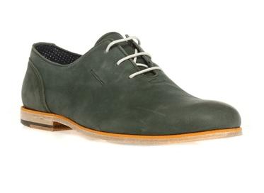 chaussures IKKS cuir vert
