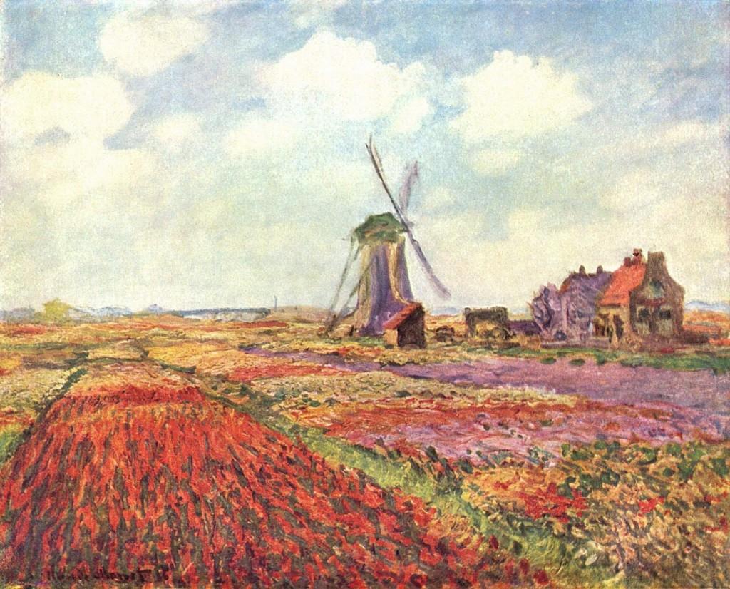 Claude Monet champs de tulipes aux pays bas, 1872 (Musée_d'Orsay)
