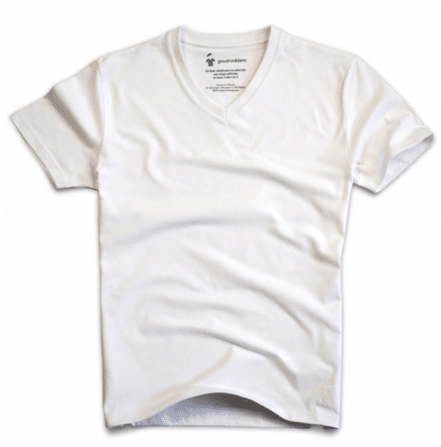 t-shirt goudron blanc
