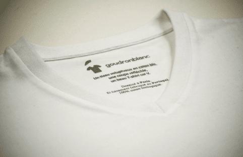etiquette imprimée goudron blanc