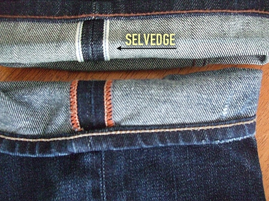 différence selvedge et toile normale