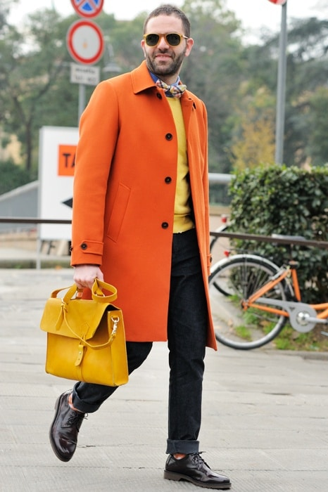 manteau orange