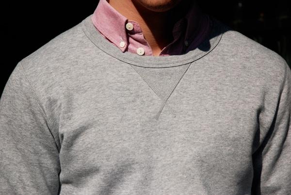 col sweat chemise
