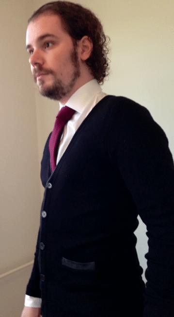 Look de profil cravate chemise