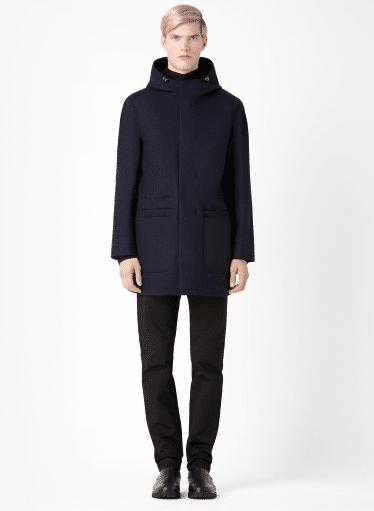 Manteau laine et synthétique COS