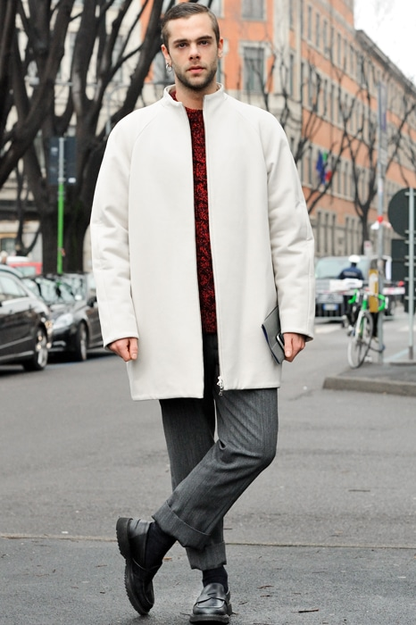 manteau blanc coupe