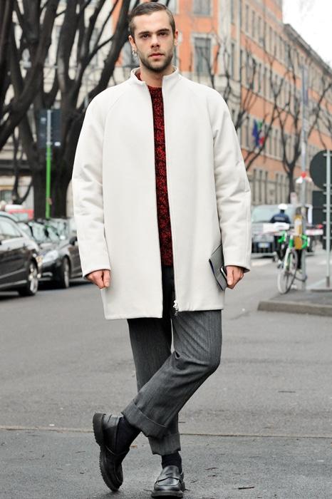 manteau blanc coupe