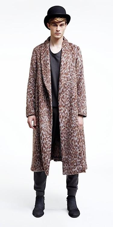 manteau leopard homme
