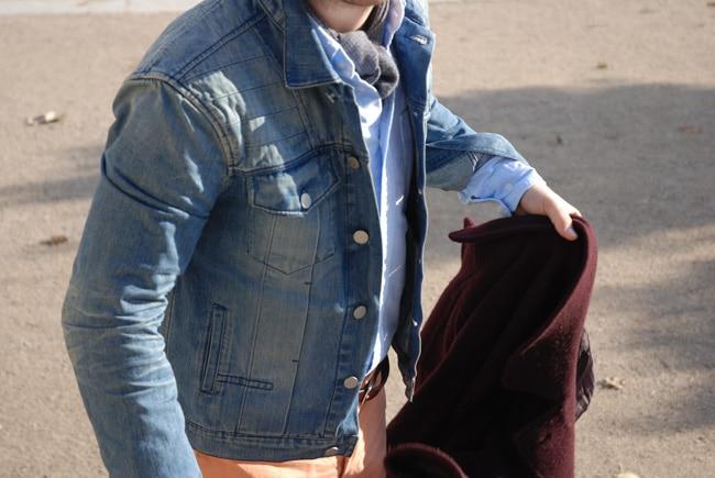 veste en jean délavée look des autres