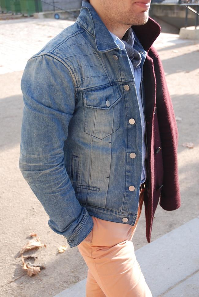 veste en jean délavée