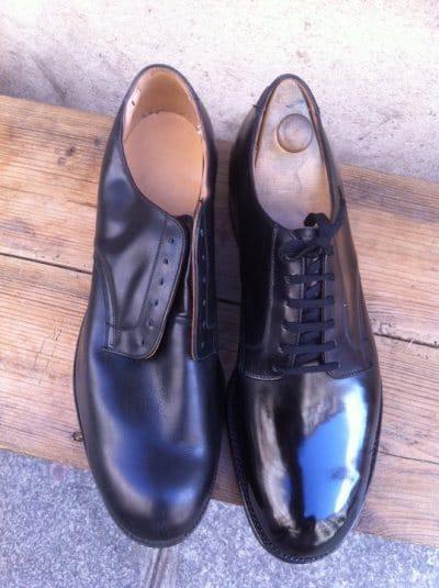 chaussure cirage avant après