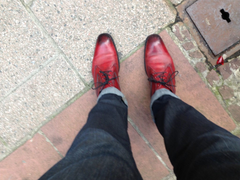 chaussures rouges magnanni