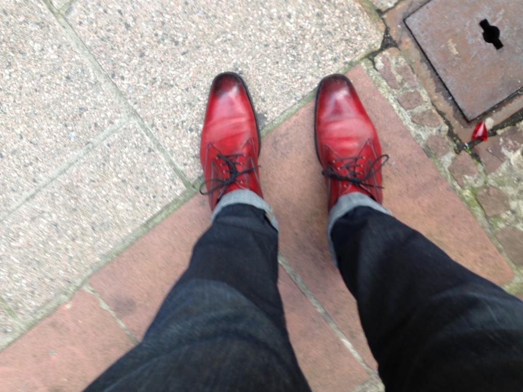 chaussures rouges magnanni