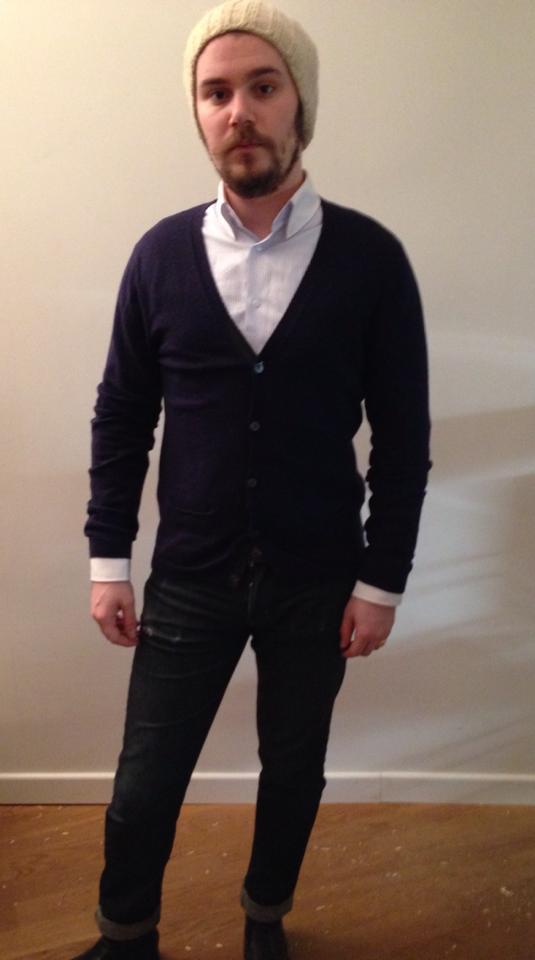 look chemise et cardigan