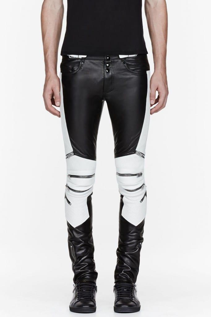 pantalon biker saint laurent