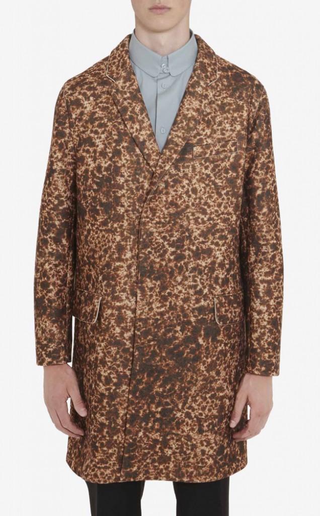manteau droit imprimé carven