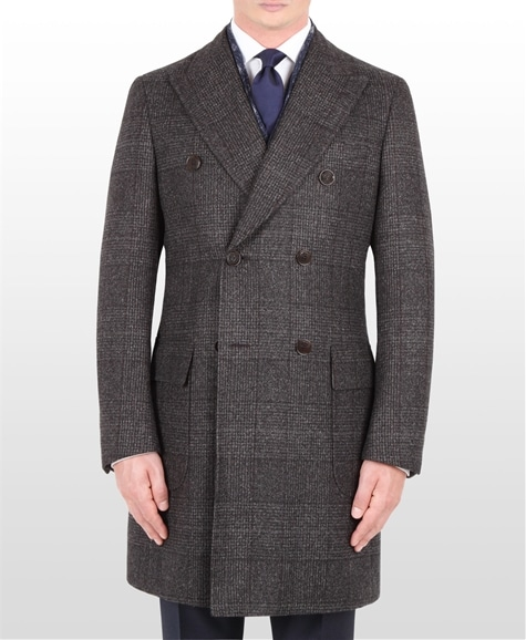 Manteau croisé prince de galles