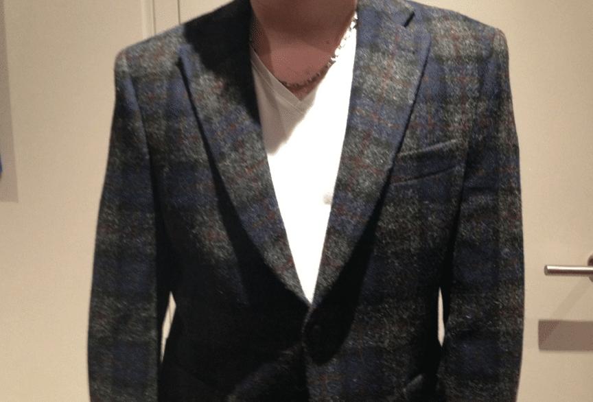 col veste tweed