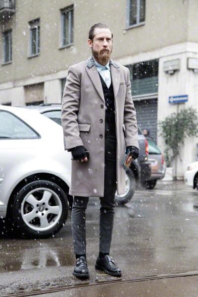 manteau droit cintré