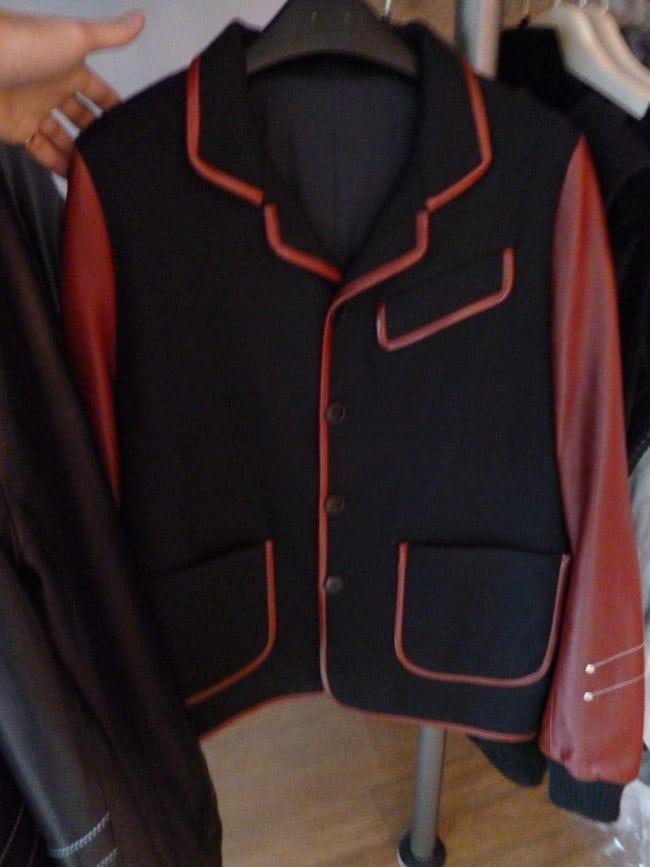 Hoon veste tailleur cuir et laine