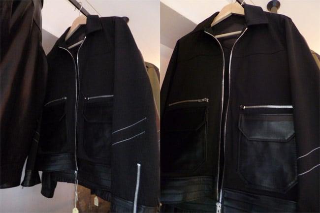 hoon blouson coton noir