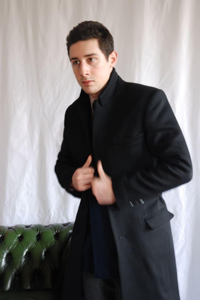 manteau droit noir