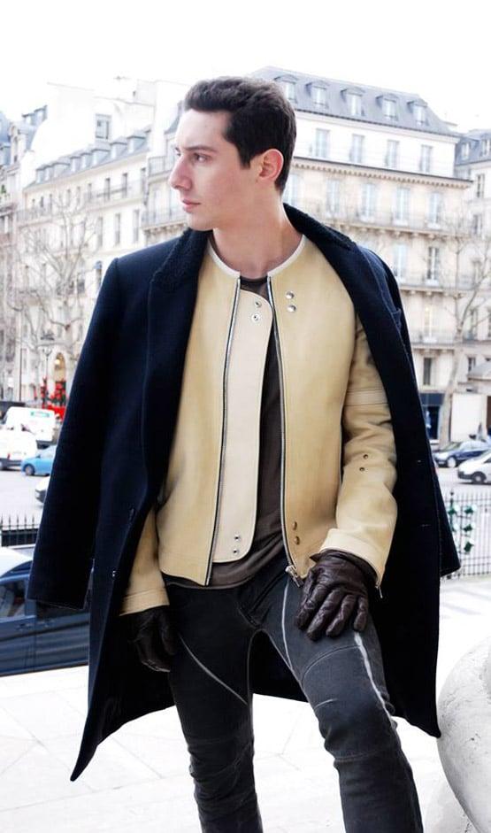 hoon blouson cuir manteau