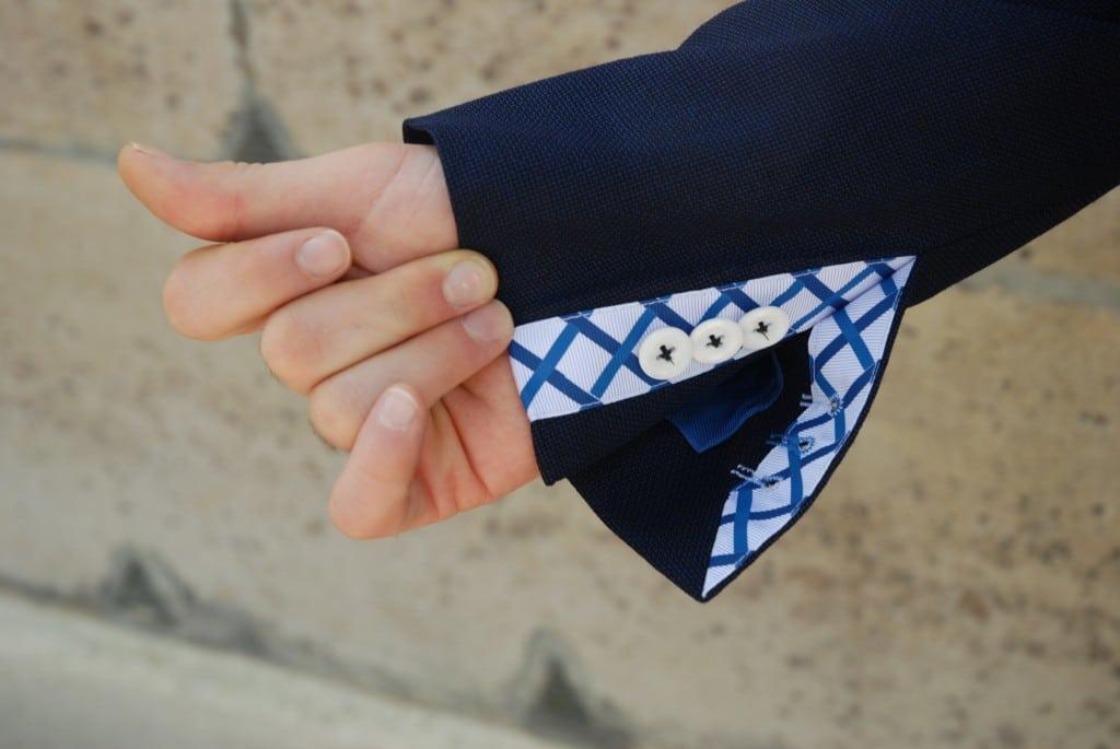 Boutonnière fonctionnelle blazer ceracolla Cavalier Bleu