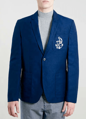 blazer bleu selected