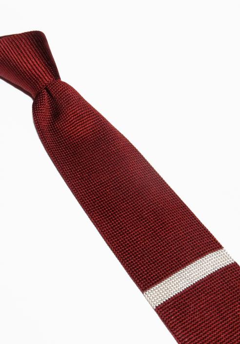 Cravate tricot bordeaux Cavalier Bleu