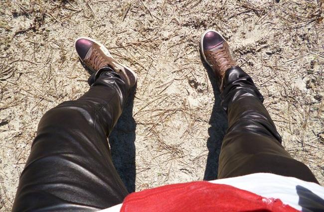 Pantalon en cuir Hoon Sidney