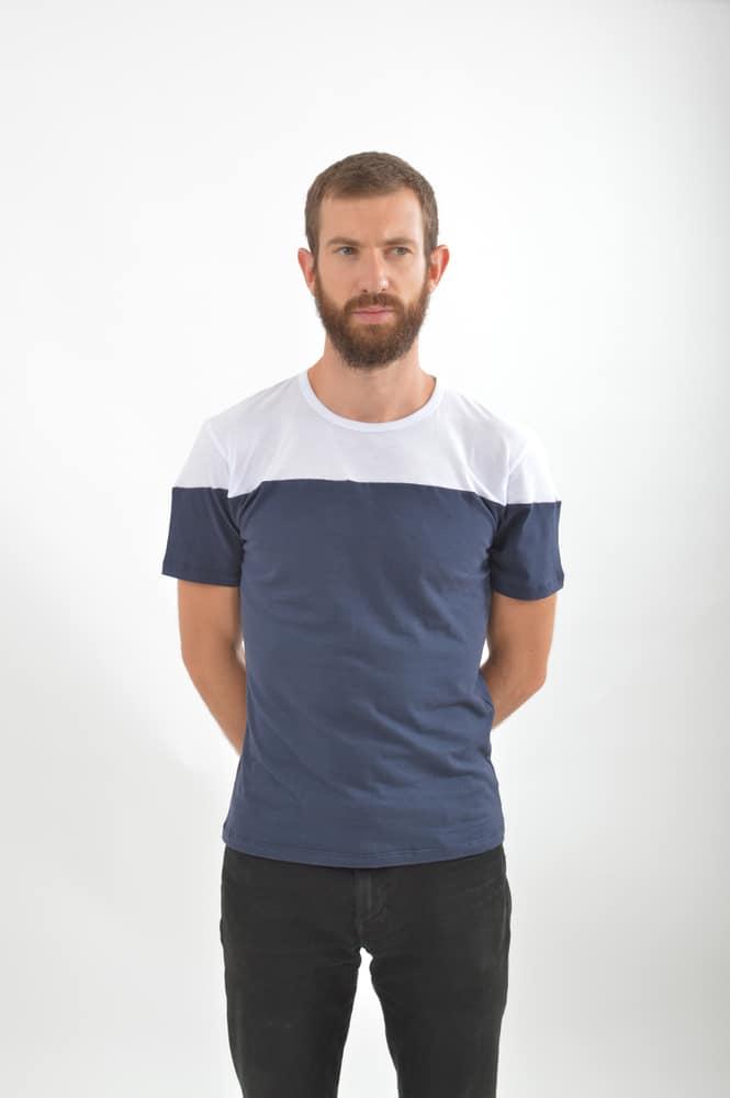 tee shirt bicolore benjamin jezequel