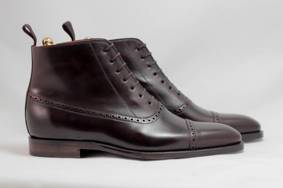 bottines noires cordovan