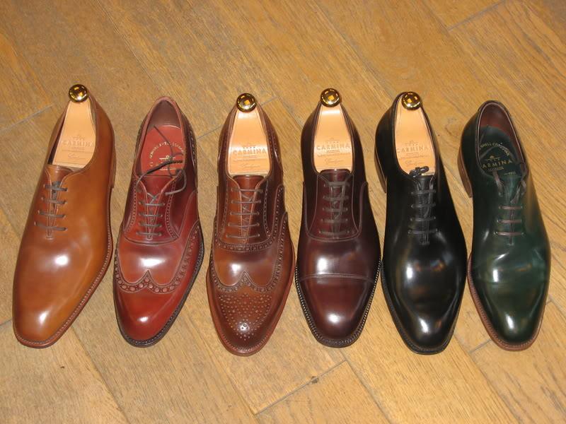 chaussures carmina en cordovan