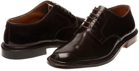 chaussures noires cordovan
