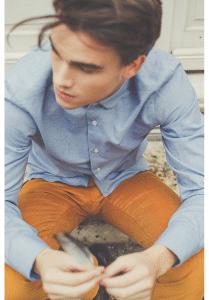 chemise cavalier bleu