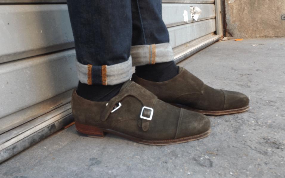 Chaussures Meermin double boucle suédé