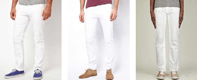 coupes basiques pantalon blanc