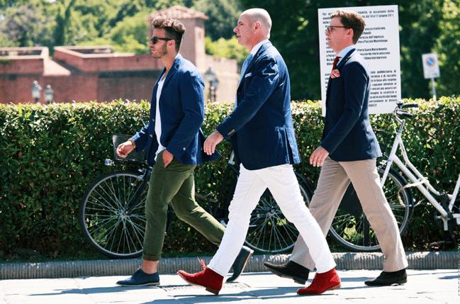 pantalon blanc pitti uomo
