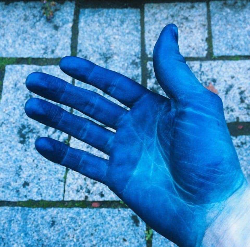 Hands of an Indigo dyer - Kevin Seah