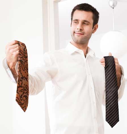 choosing tie