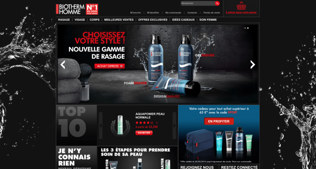Biotherm homme cosmétiques bw-yw