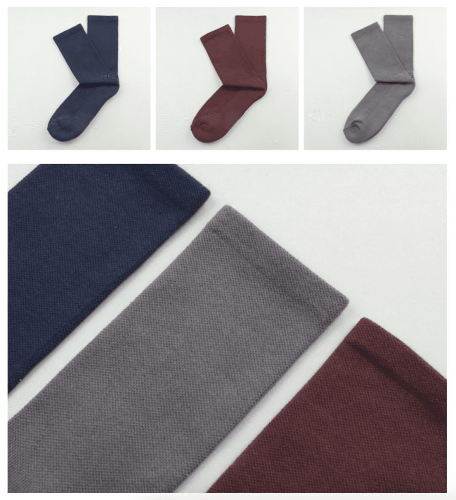chaussettes haut de gamme bleues