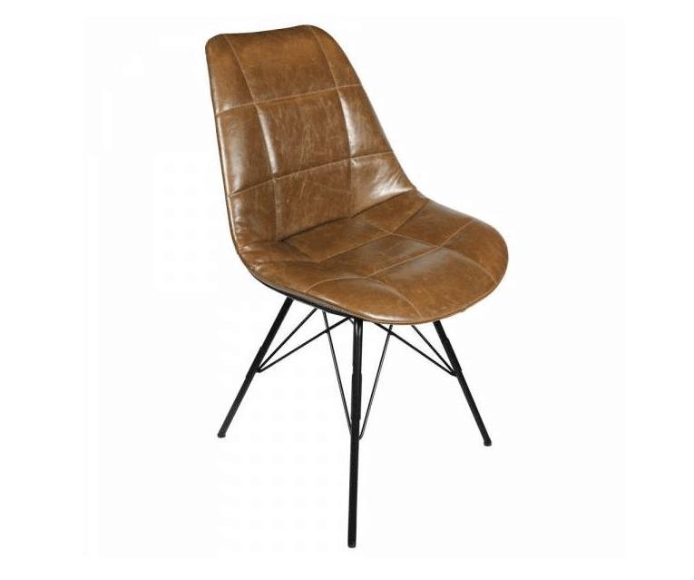fauteuil en cuir marron