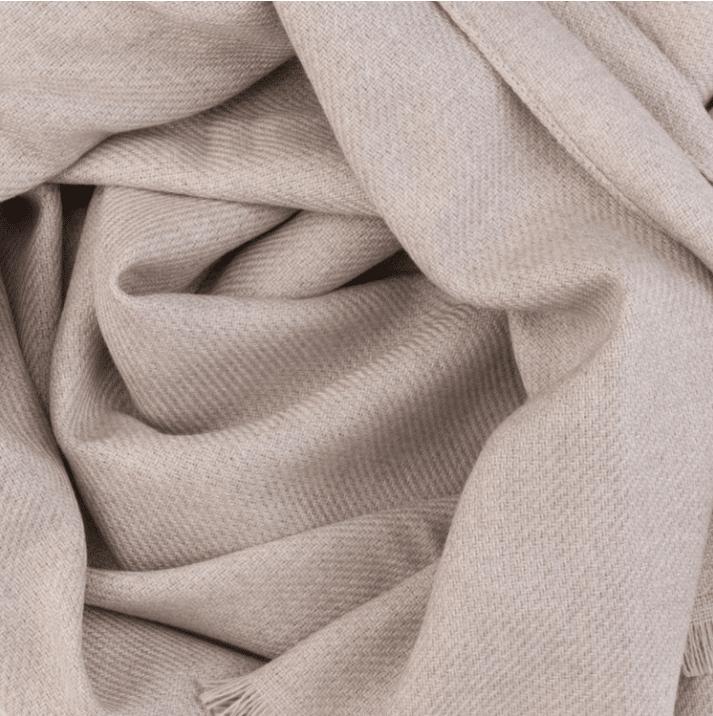 Echarpe laine vierge beige