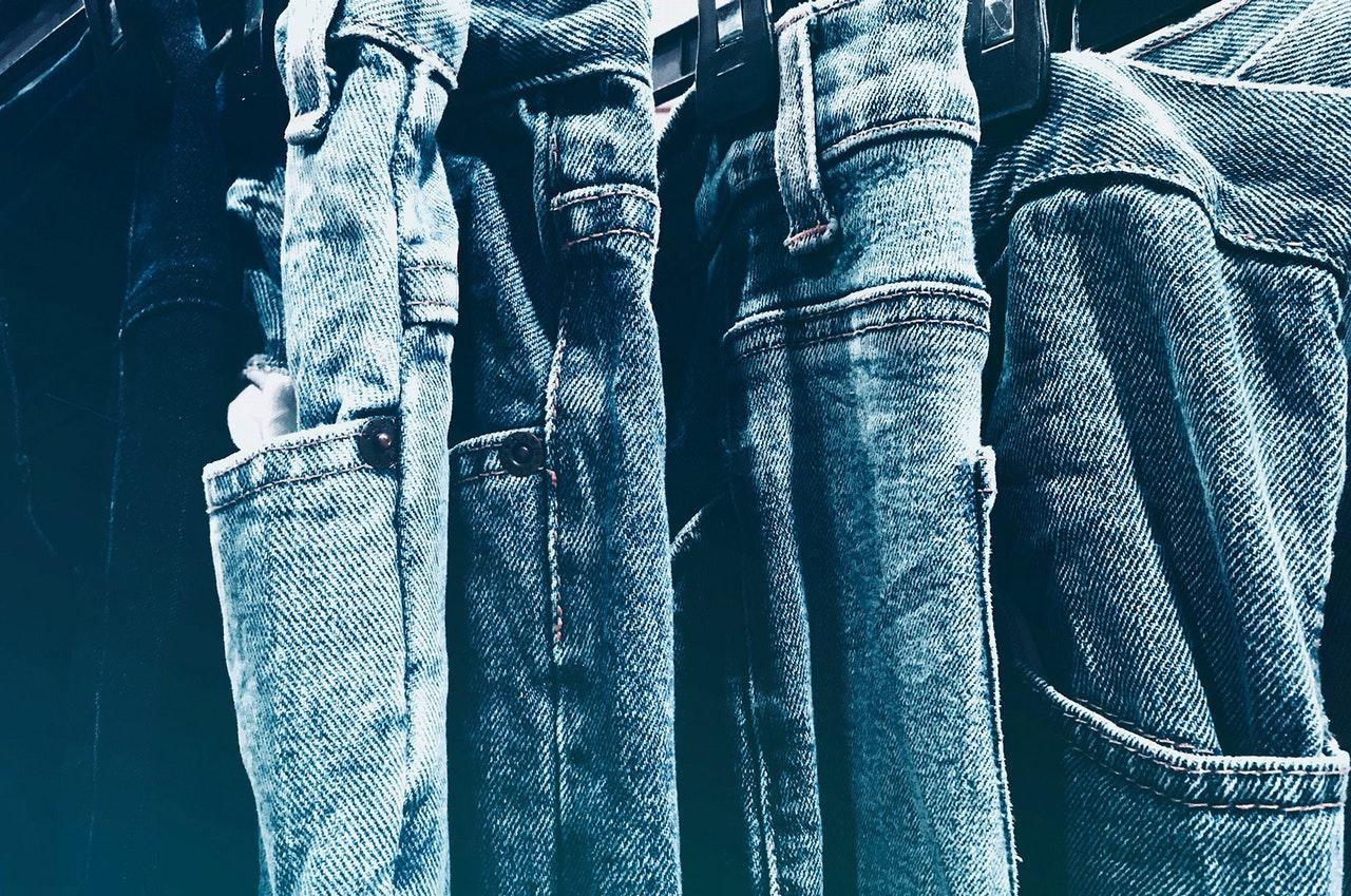 jean homme bleu